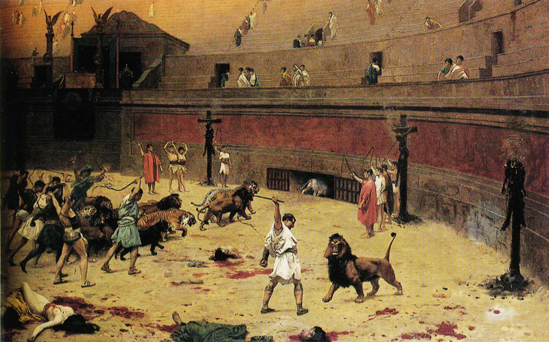 ean-Léon Gérôme [CLICK IMAGE TO EXPAND] Gathering Up the Lions in the Circus Source: https://www.pubhist.com/w38153