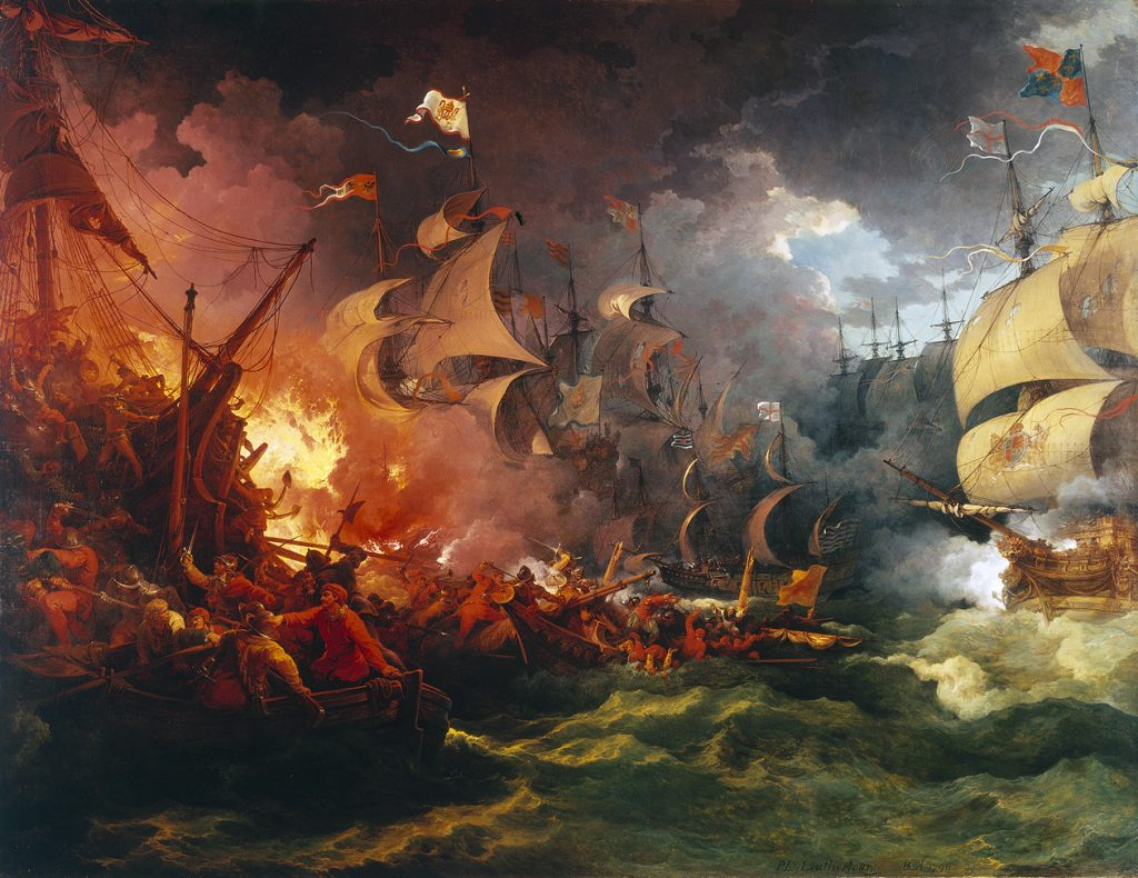 the defeat of the Spanish Armada, Jacques-Phillipe Loutherbourg 1790