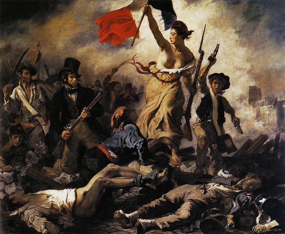 Eugène Delacroix paints the revolution of 1830 and establishes a Romantic visual idea of revolution that has had lasting influence